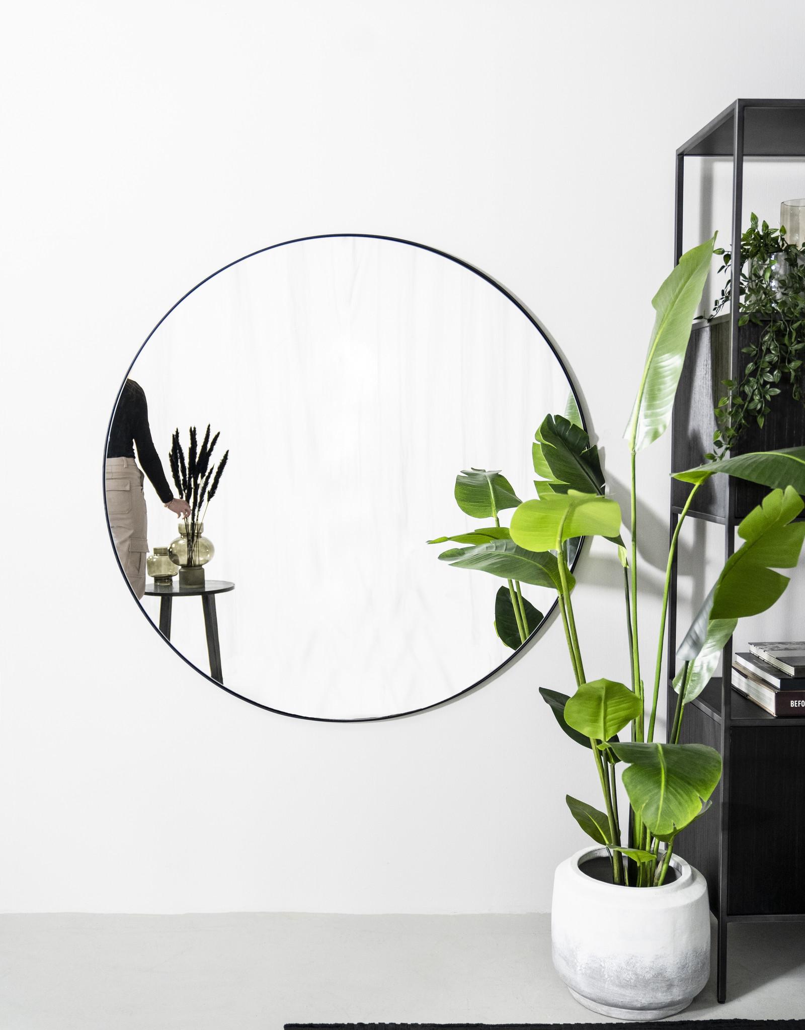 Spiegel Ø120 cm Immense - zwart