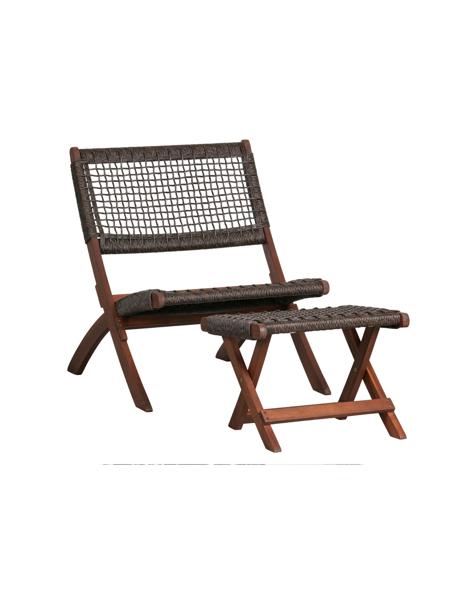 Outdoor Klapstoel Fauteuil hout - bruin