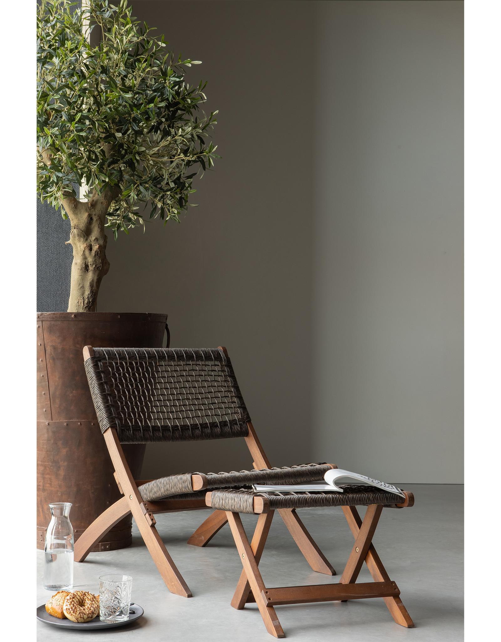 Outdoor Poef hout - bruin