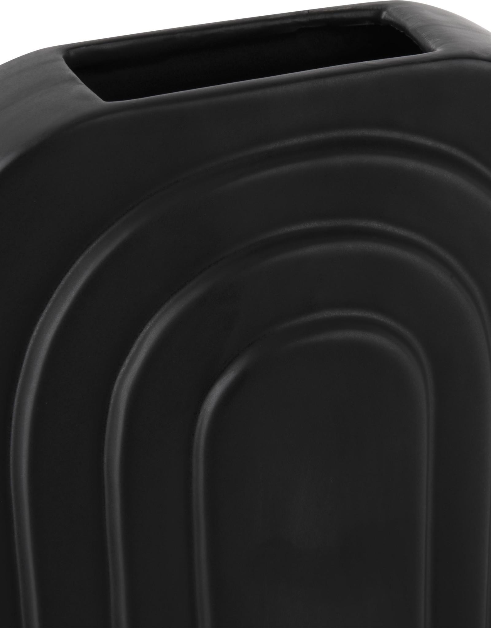 Vaas Ceramic Arc L - zwart