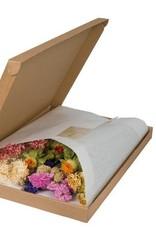 Droogbloemen multicolour in cadeaubox