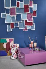 HK Living Mirror Block Table - Pink L