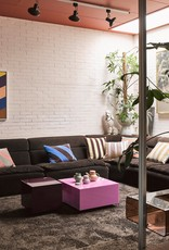HK Living Mirror Block Table - purple M