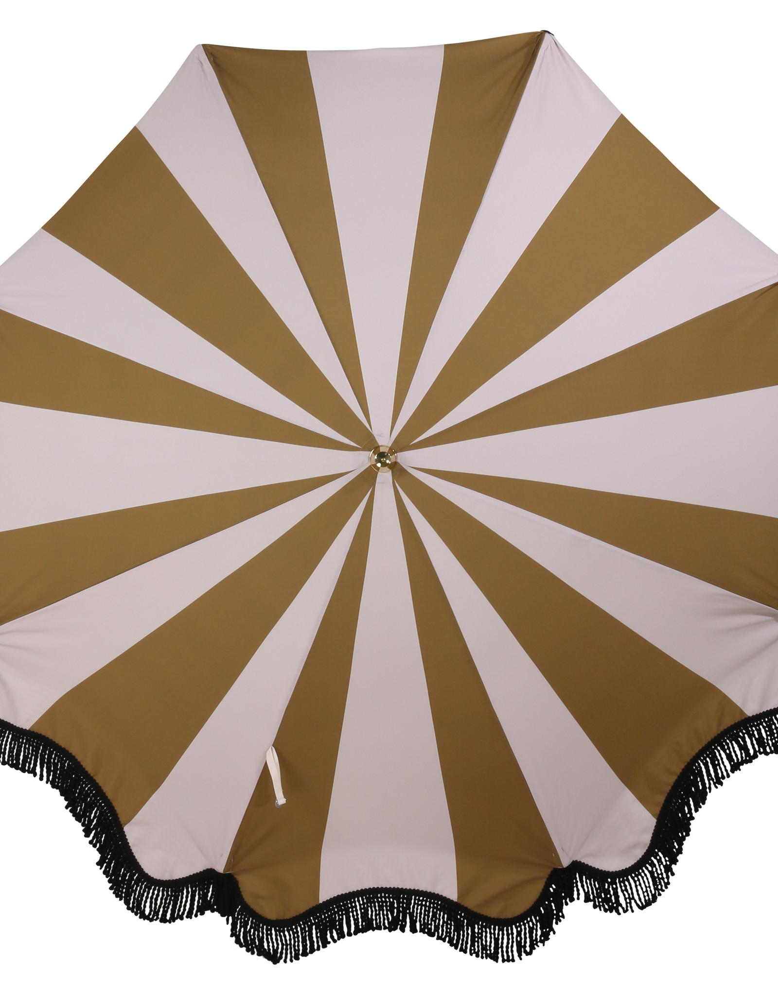 HK Living Parasol Classic Nude/Mustard Stripes