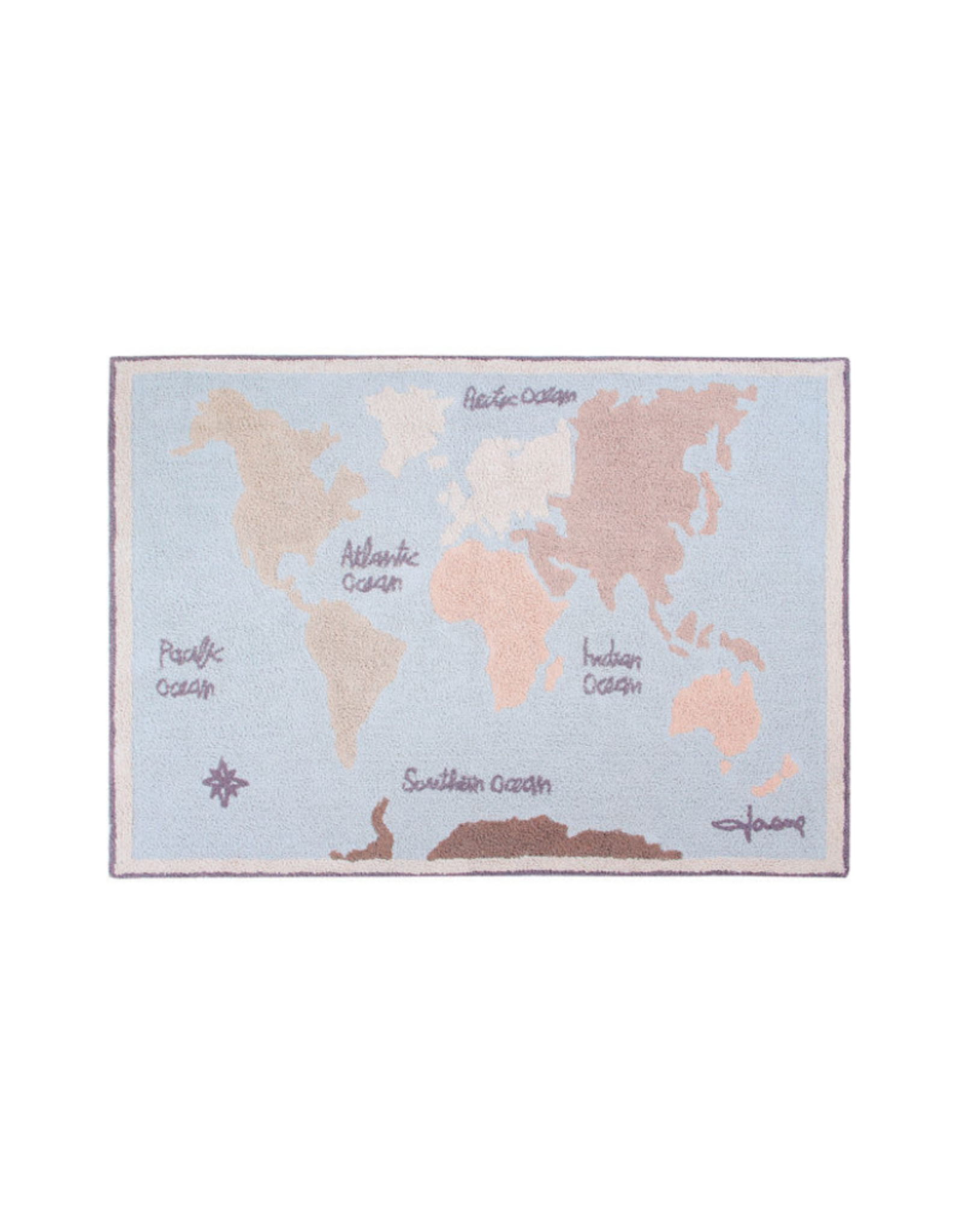 Lorena Canals Vloerkleed Vintage Map 140 x 200 cm - Washable katoen