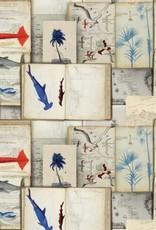 Mind the Gap Behang Seaman's Journal - 156 x 300 cm