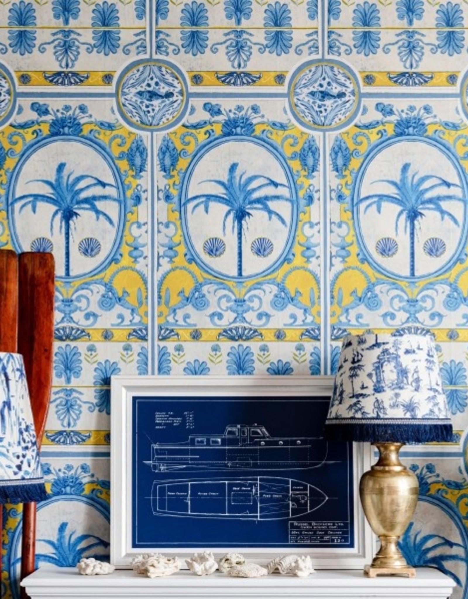 Mind the Gap Behang The Villa Mural Yellow - 156 x 300 cm