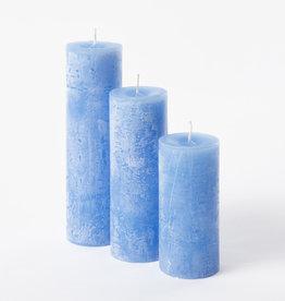 DekoCandle Stompkaars Ø 7 x 10 cm - Carribean Blue