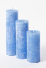 DekoCandle Stompkaars Ø 7 x 15 cm - Carribean Blue