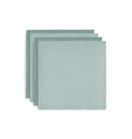 Jollein Hydrofiele Multidoek Bamboe 70 x 70 cm - Ash Green (Set van 4)