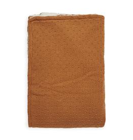 Jollein Deken Wieg Teddy 75 x 100 cm - Bliss Knit - Caramel