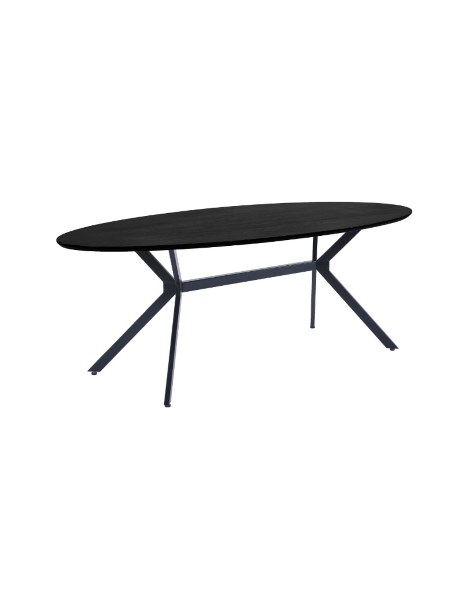 Eettafel Ellips 220 x 100 cm - Zwart