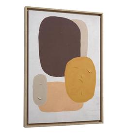 Print met kader 'Earthy Tones' 50 x 70 cm