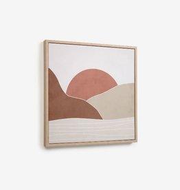 Print met kader 'Sunrise' 40 x 40 cm