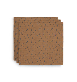 Jollein 3 x Multidoek hydrofiel 70 x 70 cm Spot caramel (3pack)