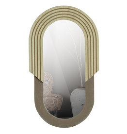 Spiegel Oval Wood 58 cm