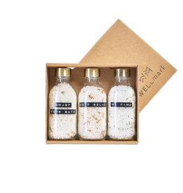 Wellmark Giftbox 'Just Relax' met 3 soorten badzout
