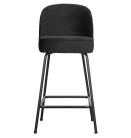 Barstoel vogue velvet 65cm - Zwart