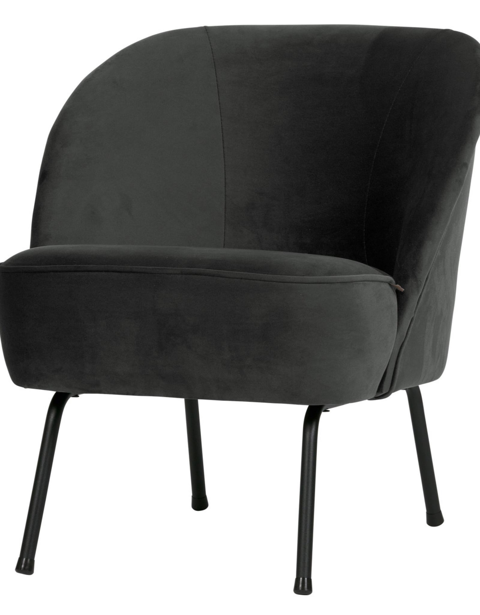 Fauteuil vogue velvet - Zwart