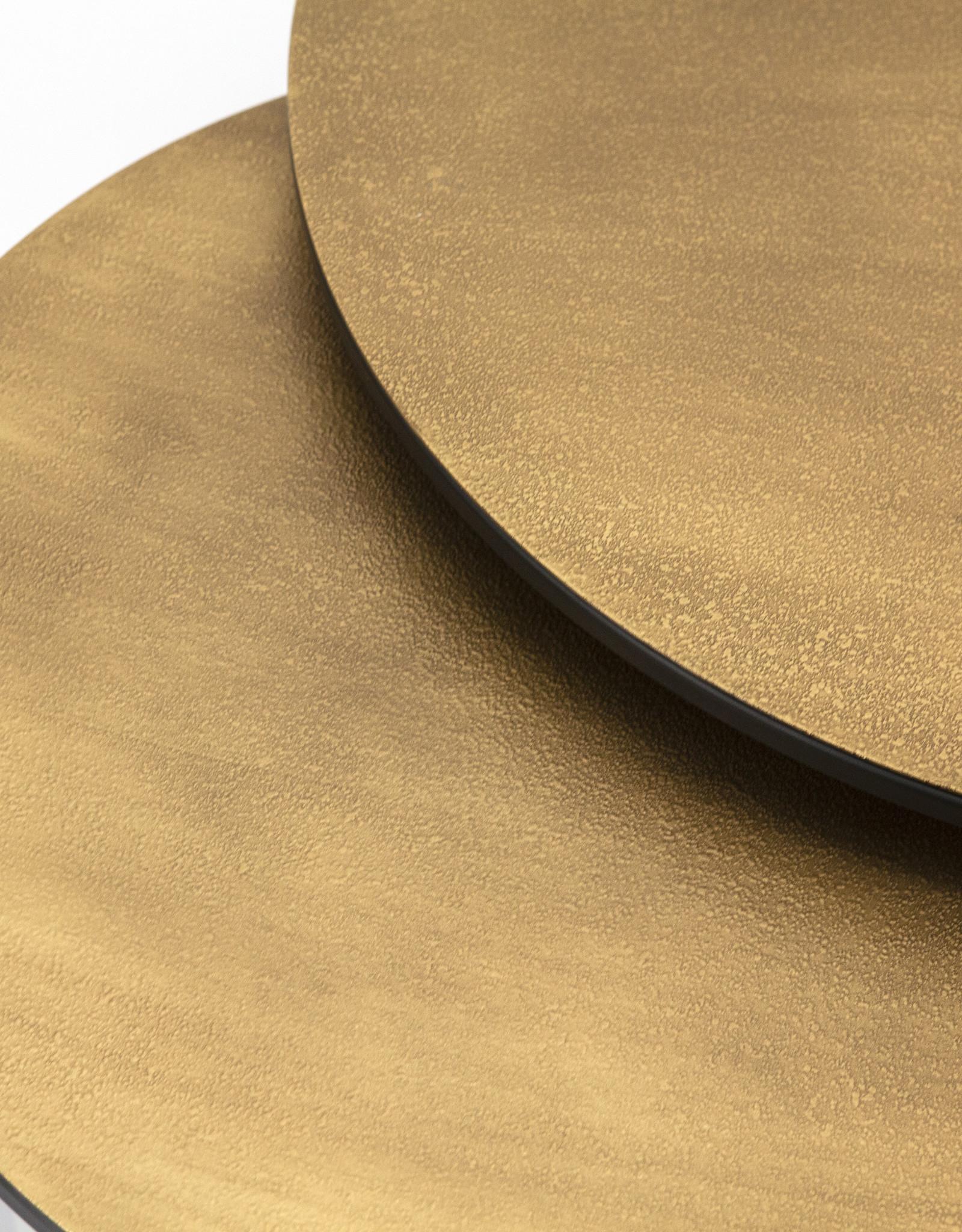 Set v 2 Salontafels rond Brass - Large