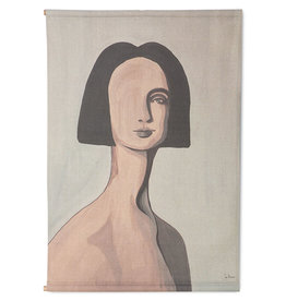 Wandkaart vrouwenportret