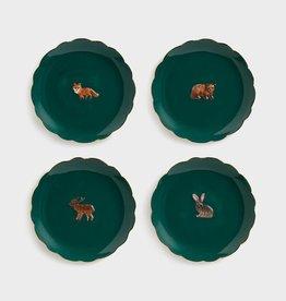 &Klevering Set van 4 bordjes Forest Animals