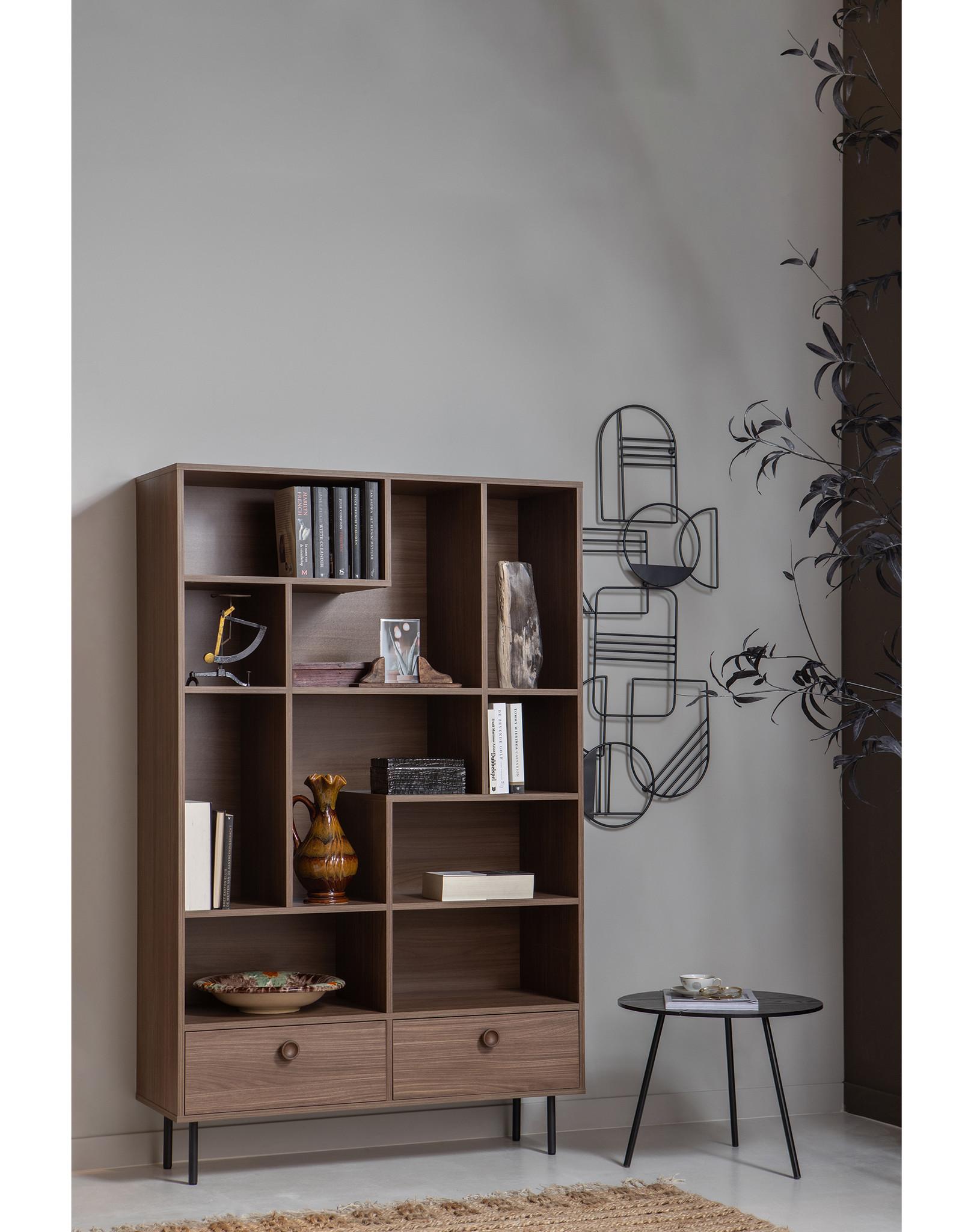 Wandkast walnoot - diepte 35 cm