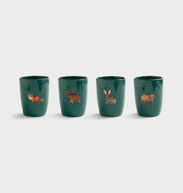 Mug Forest Animal - set of 4