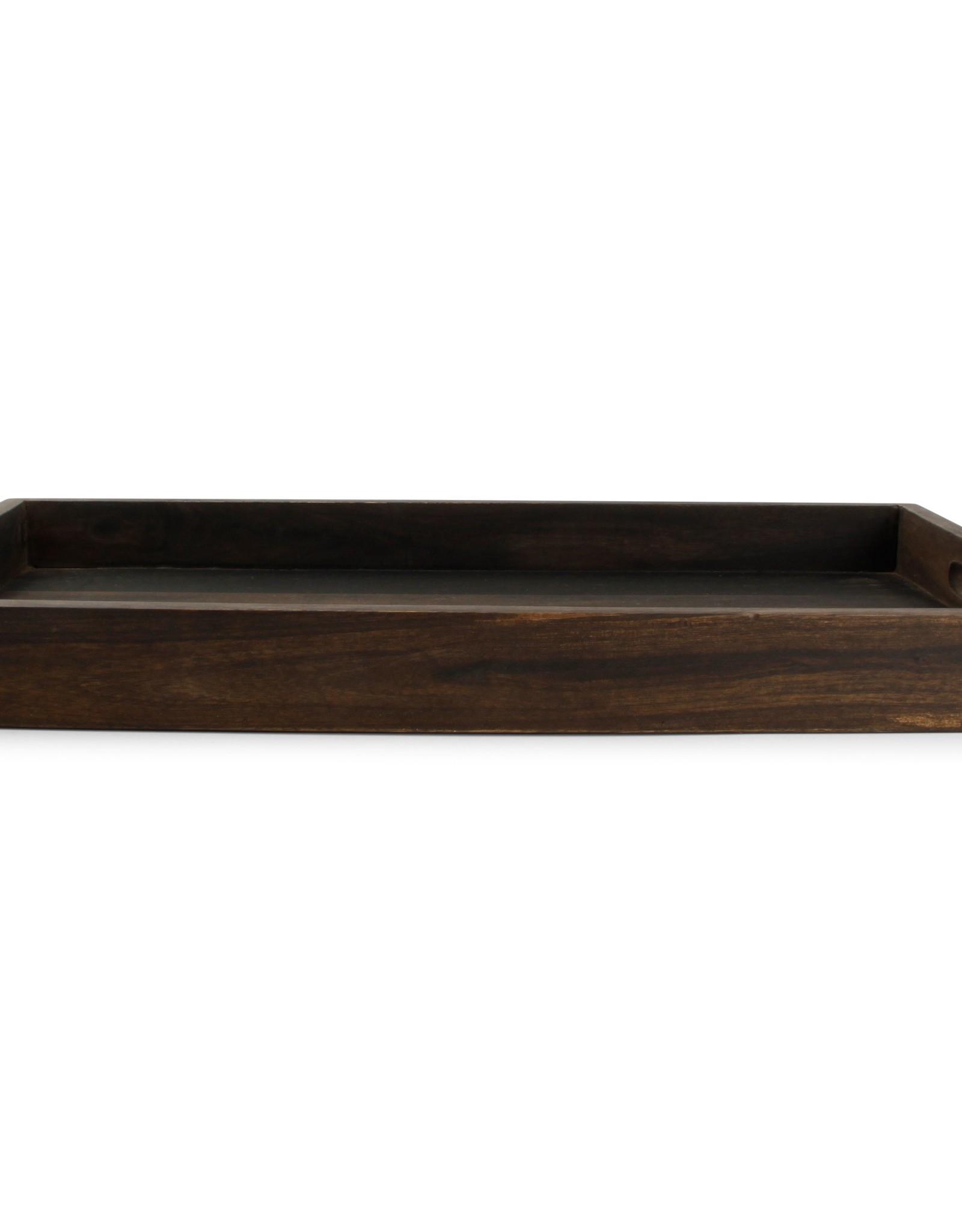 Dienblad 55cm hout zwart Rural