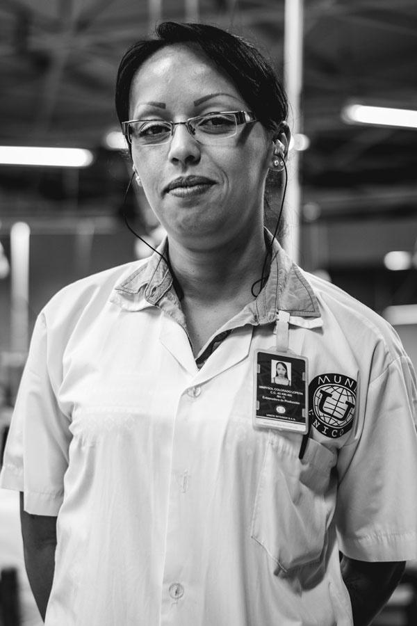 Unico werkneemster Marisol
