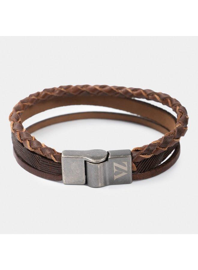 Velez Lederen Armband Colombia bruin