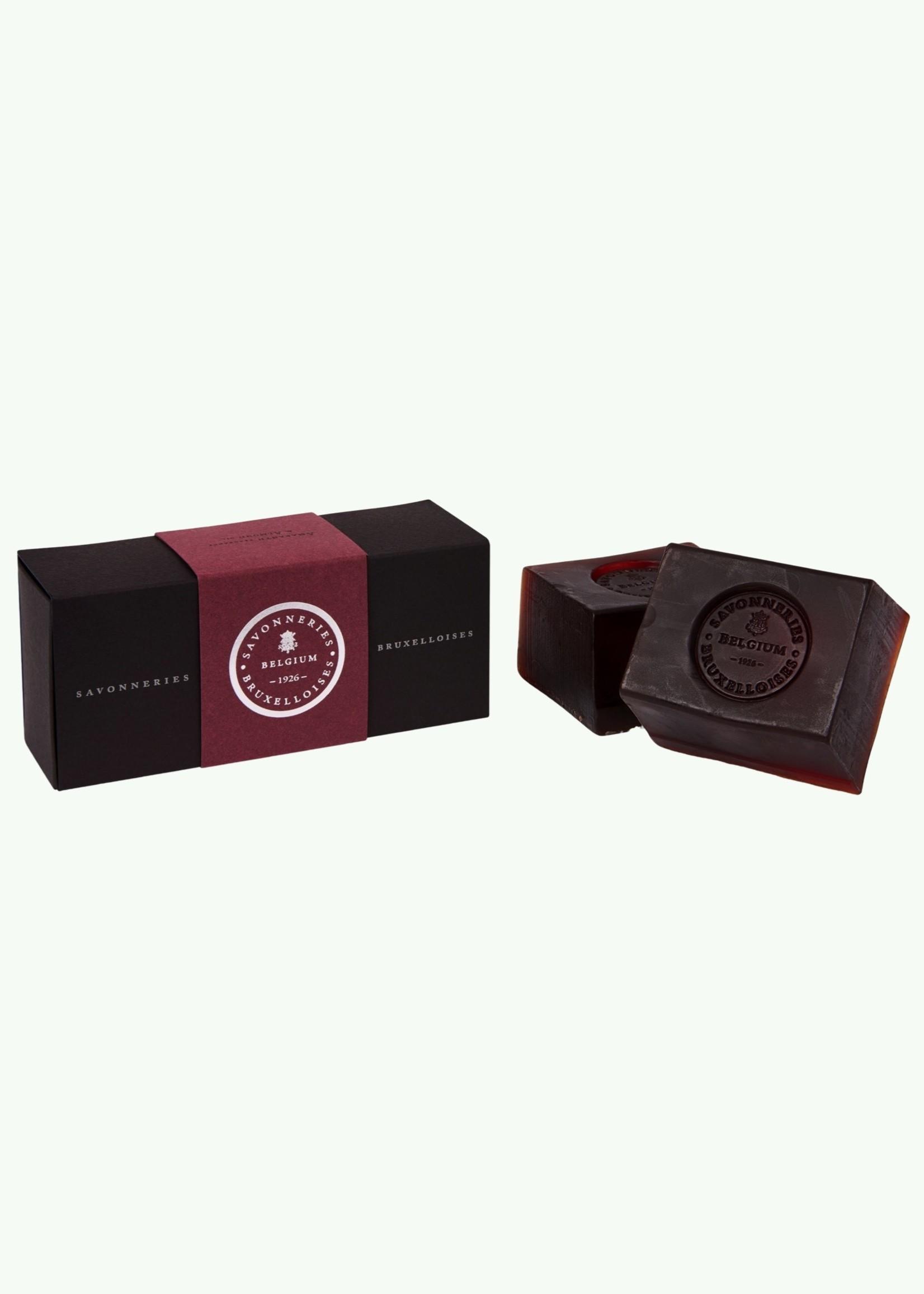 Savonneries Bruxelloises Savonneries Bruxelloises - Amaranth & Almond Oil - Soap - 2 x 200 gr