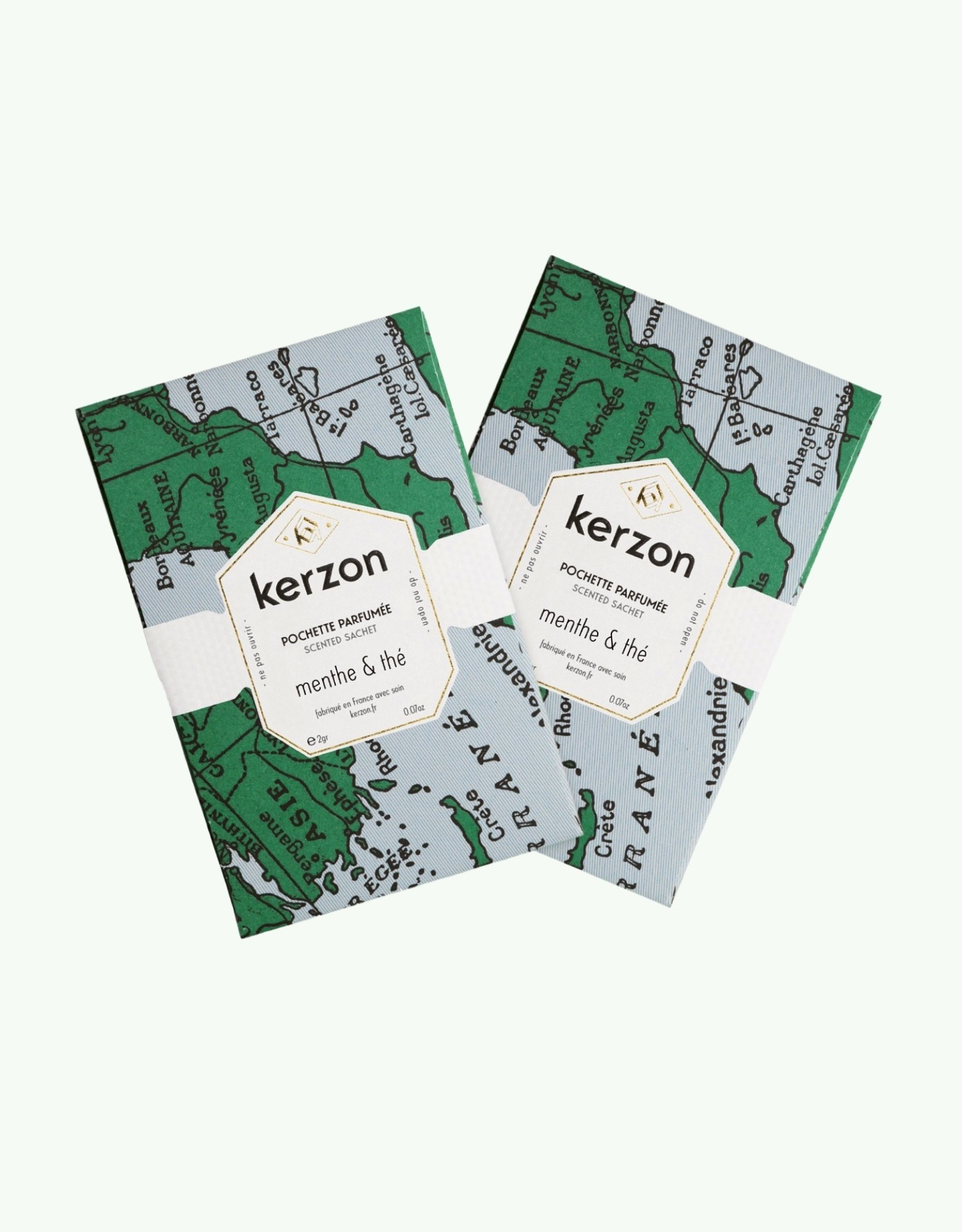 Kerzon Kerzon - Menthe & Thé - Set van 2 geparfumeerde zakjes