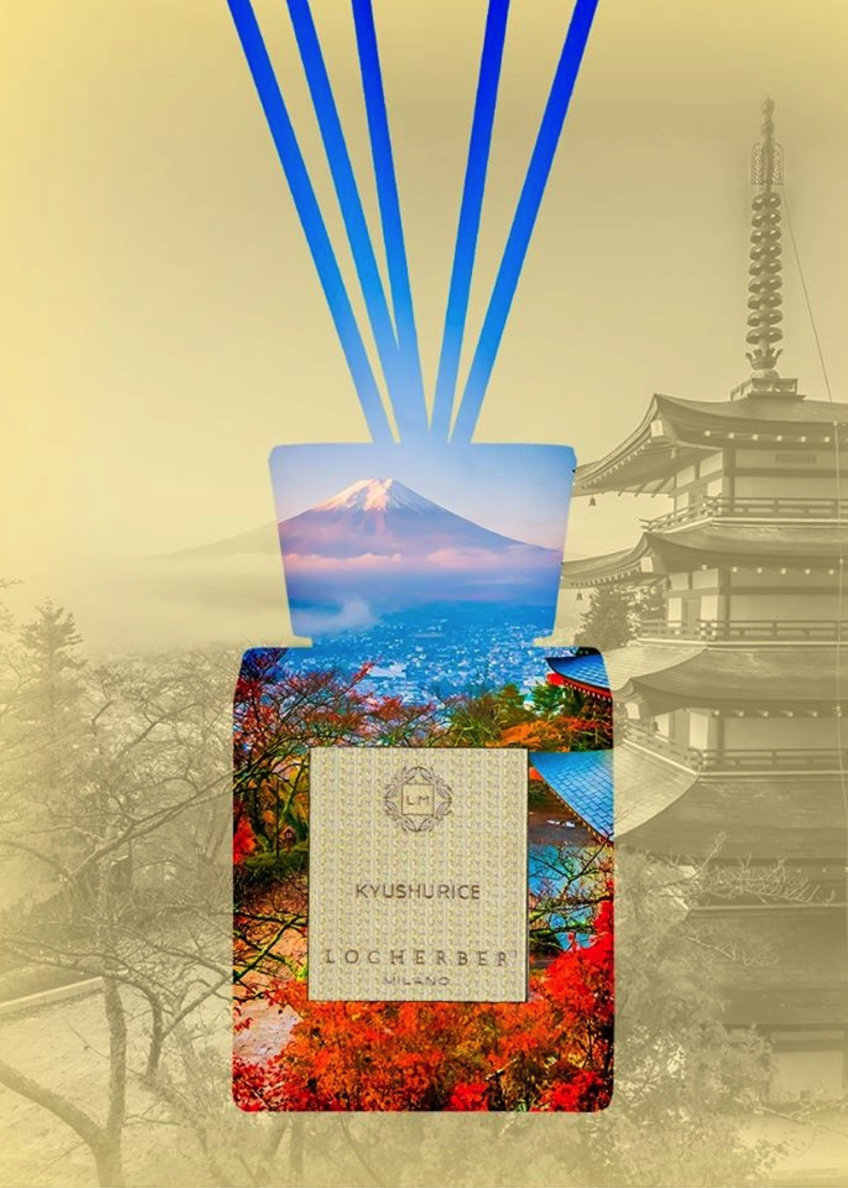 Locherber Locherber Milano - Kyushu Rice - Diffuser Cadeau Set