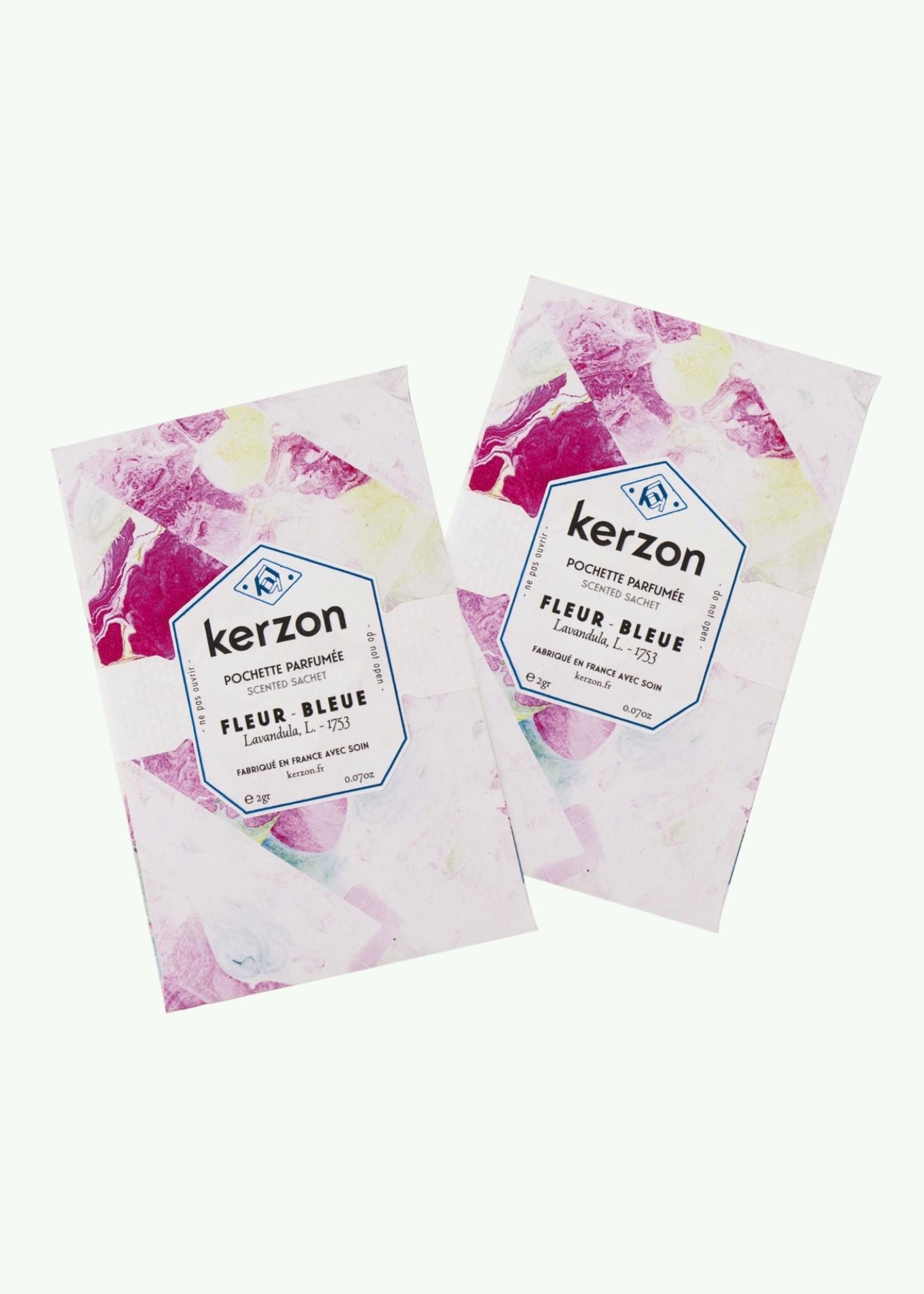 Kerzon Kerzon - Duo Fleur Bleue - Bougie et Set de 2 Pochettes Parfumées