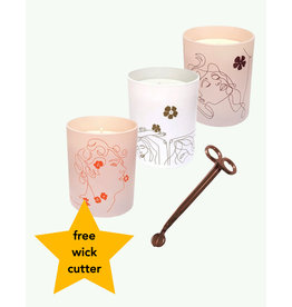 Label Bougie Trio Candles & Wick Cutter -  Label Bougie
