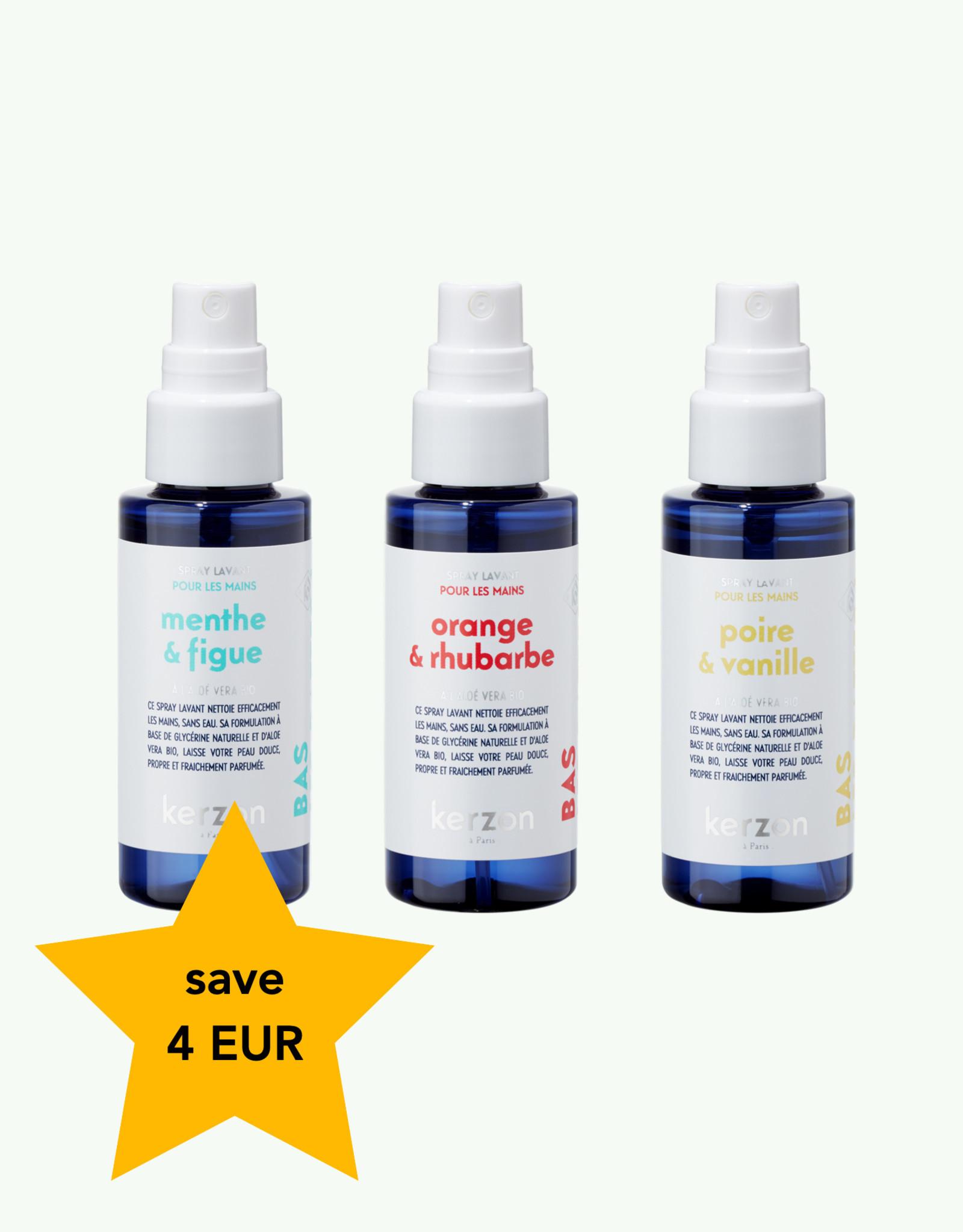 Kerzon Kerzon - Trio Sprays Lavants de 50 ml