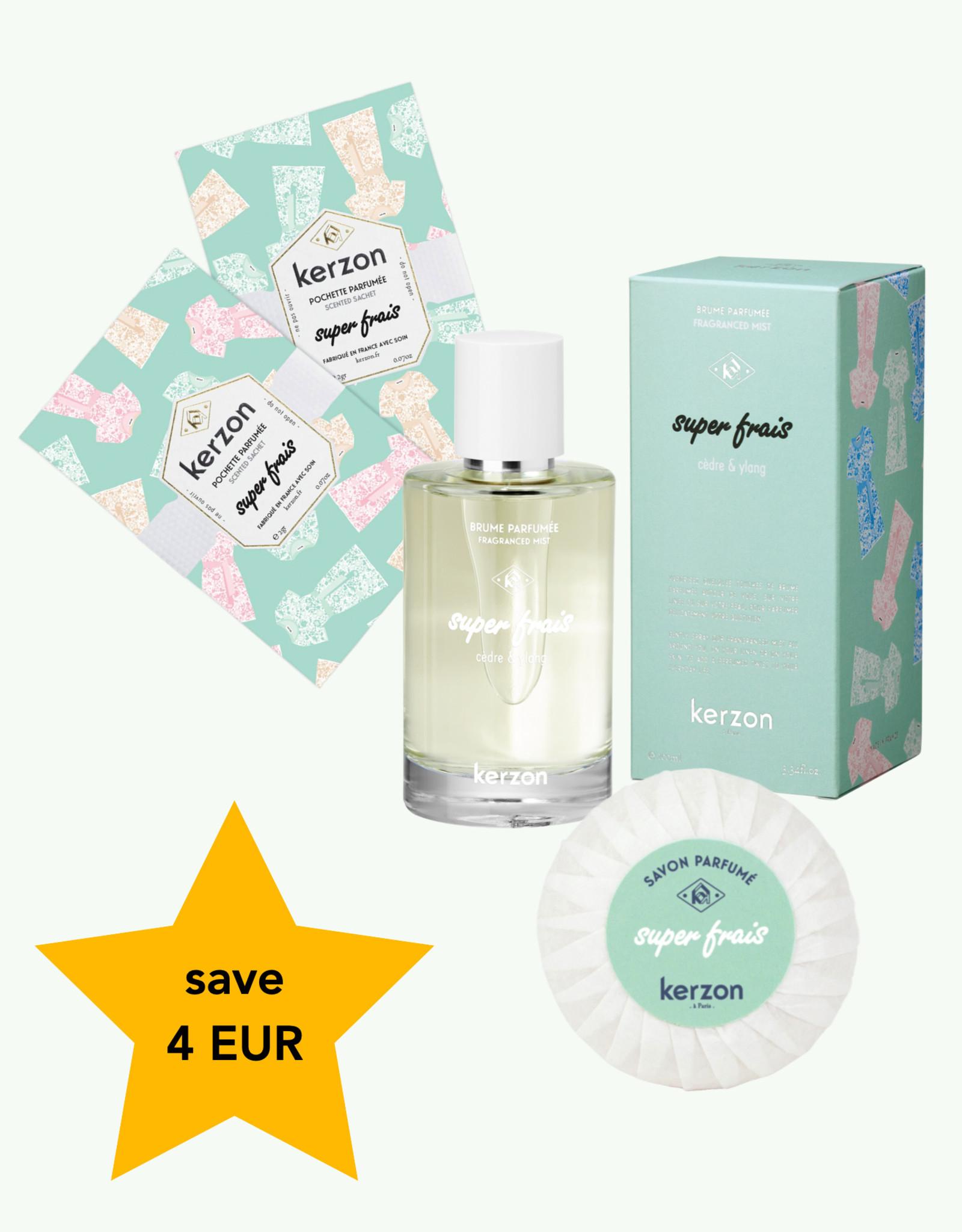 Kerzon Kerzon - Trio Super Frais - Brume Parfumée & Savon &  Pochettes Parfumées
