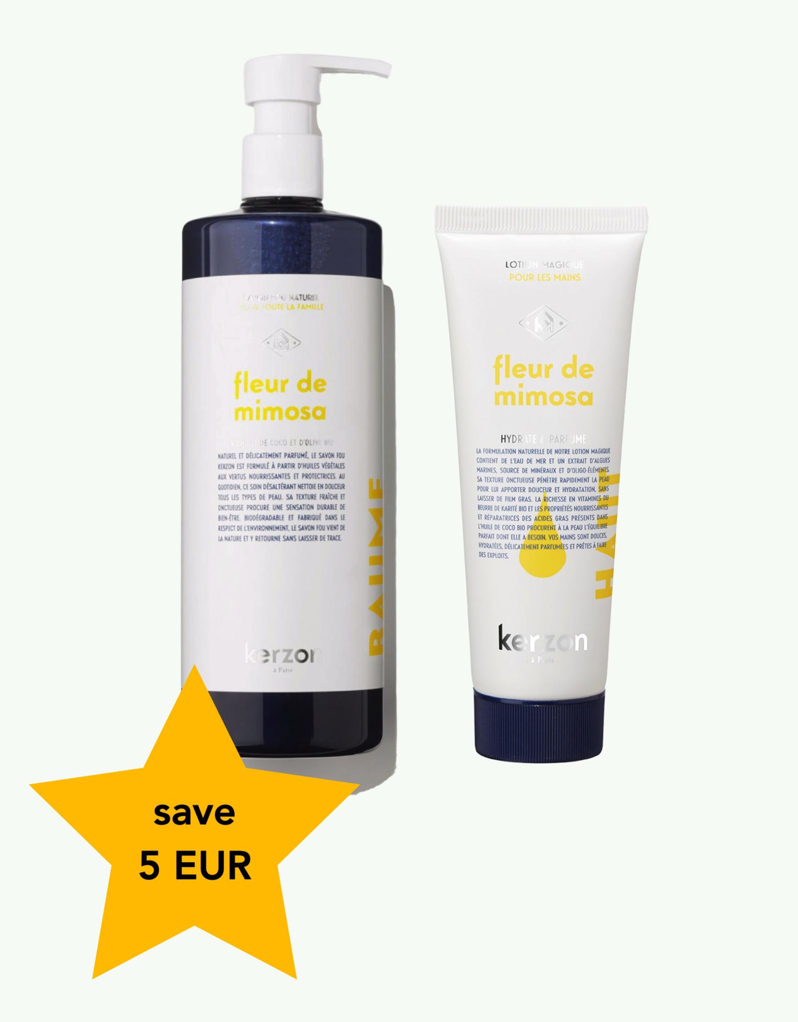 Kerzon Duo Fleur de Mimosa - Vloeibare zeep en handcreme - Kerzon