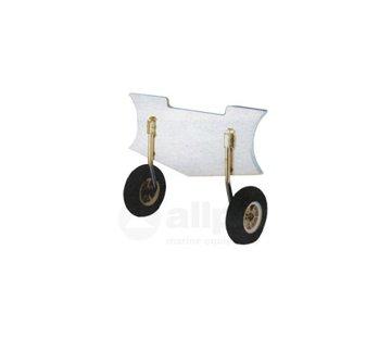 Allpa Transportwielen RVS  voor rubberboot max.150kg