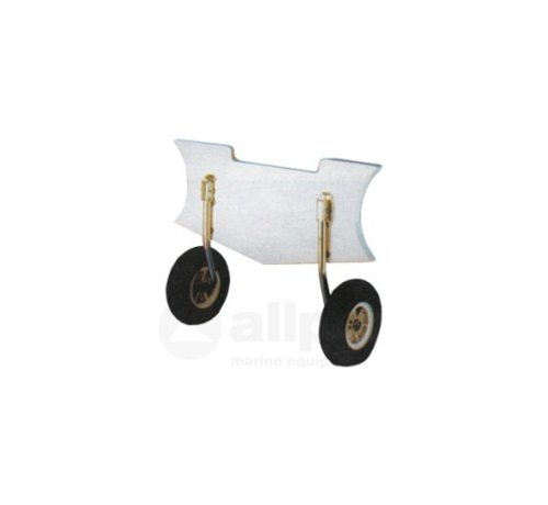 Transportwielen RVS  voor rubberboot max.150kg