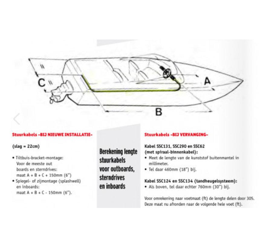 Teleflex Stuursysteem Light Duty tot 40kW / 55pk