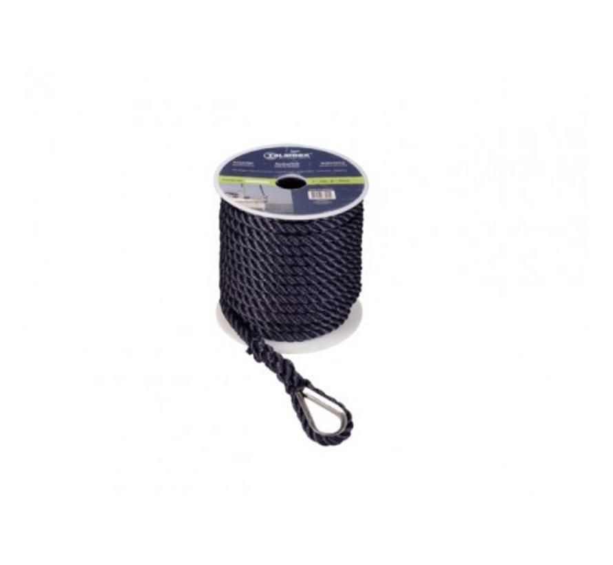 Ankerlijn Polyester 12mm 30meter Zwart