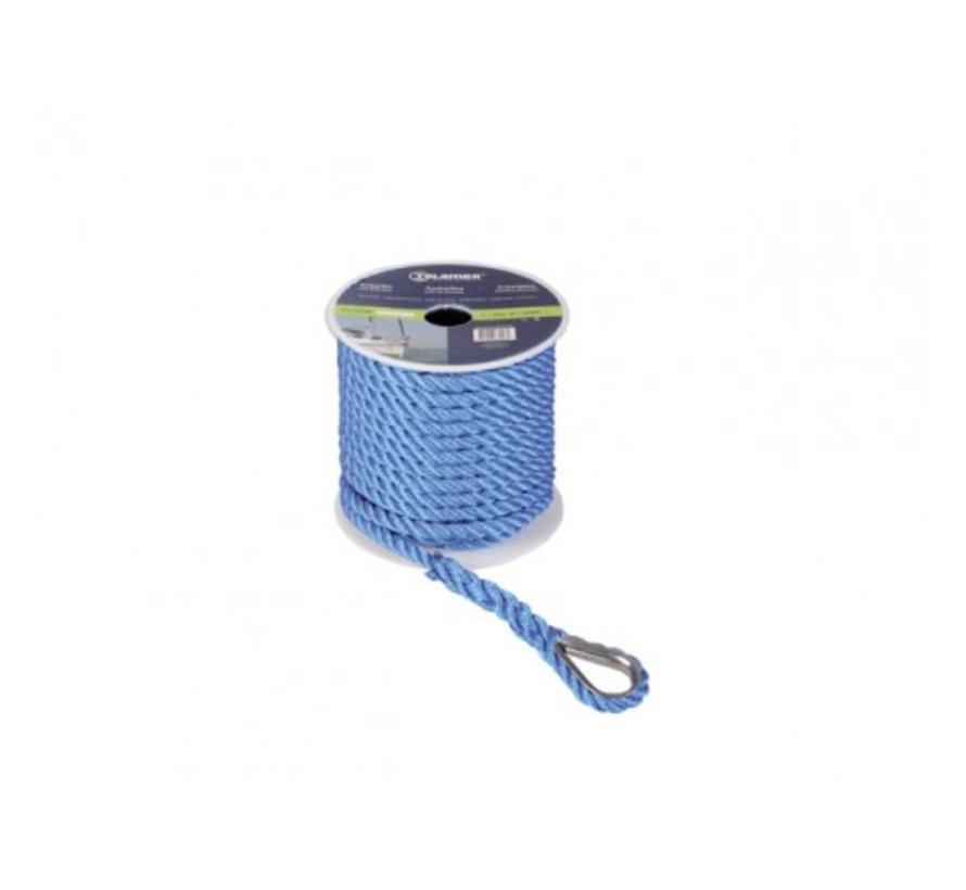 Ankerlijn Polyester 12mm 30meter Blauw