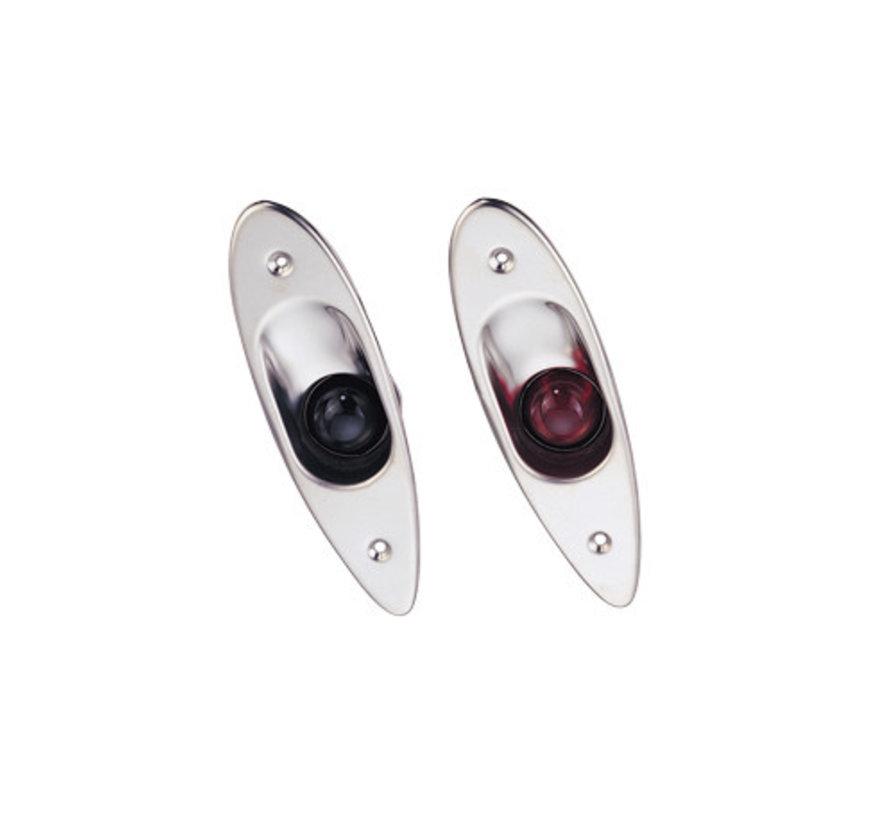 Allpa LED Positielantaarnset voor bak- en stuurboord ( zij-inbouw )