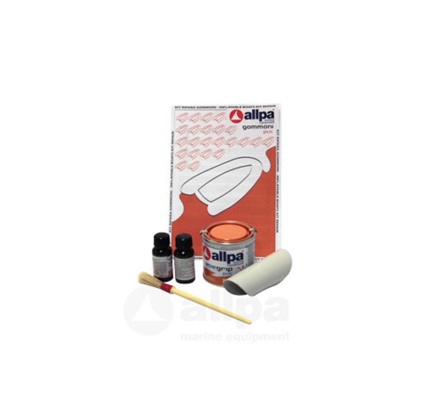 2-Componenten reparatieset voor PVC boten, lichtgrijs