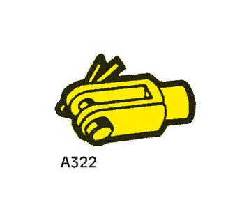 Allpa Vorkeind A322 voor Kabels met M10 schroefdraad