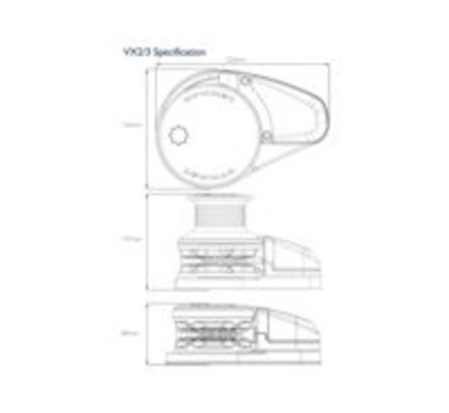 VX1 GD DECK UNIT 8MM 12V - 500W