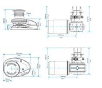 Lewmar Ankerlier V2 go ff 12V 001 kit