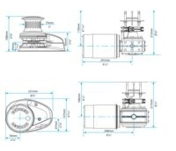 Lewmar Ankerlier V2 go ff 12V 002 kit